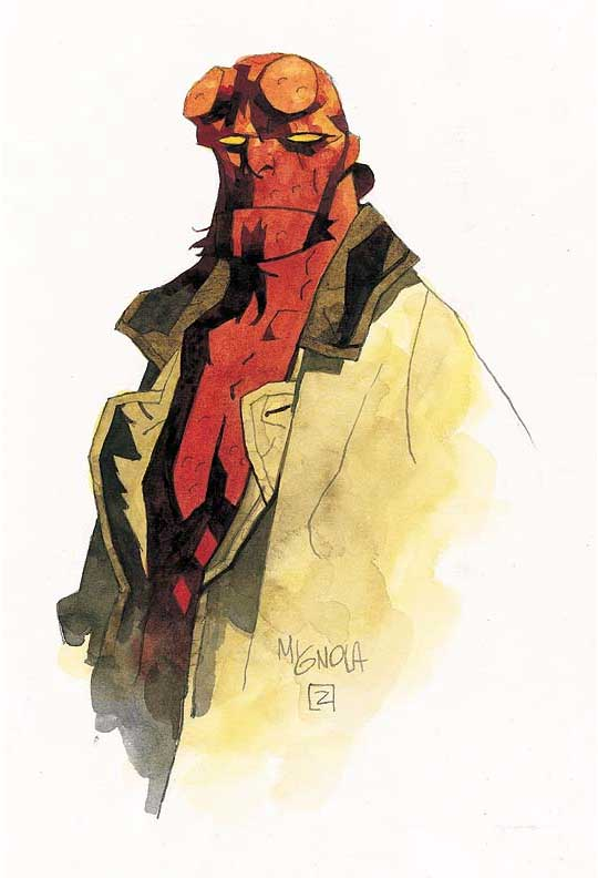 Mike Mignola art works.