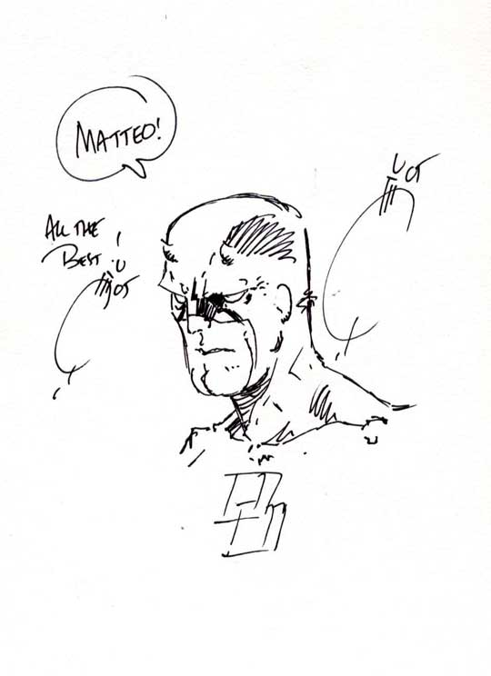 Daredevil original art by Joe Quesada